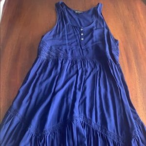 Express navy blue sundress